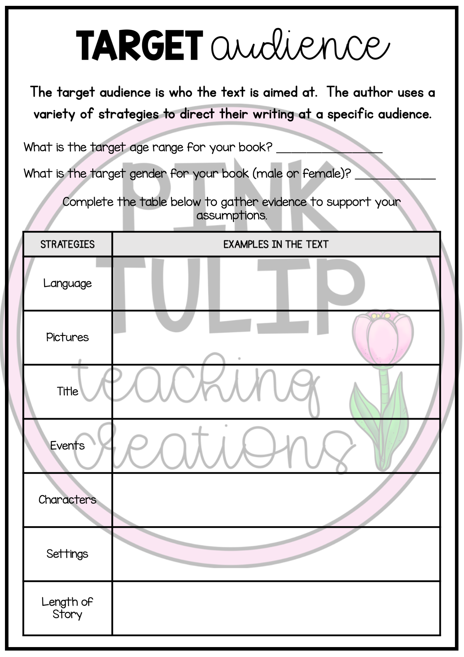 Reading Strategies Worksheets Use With Any Book Writing Comprehension Reading Comprehension Worksheets Reading Strategies [ 2249 x 1589 Pixel ]