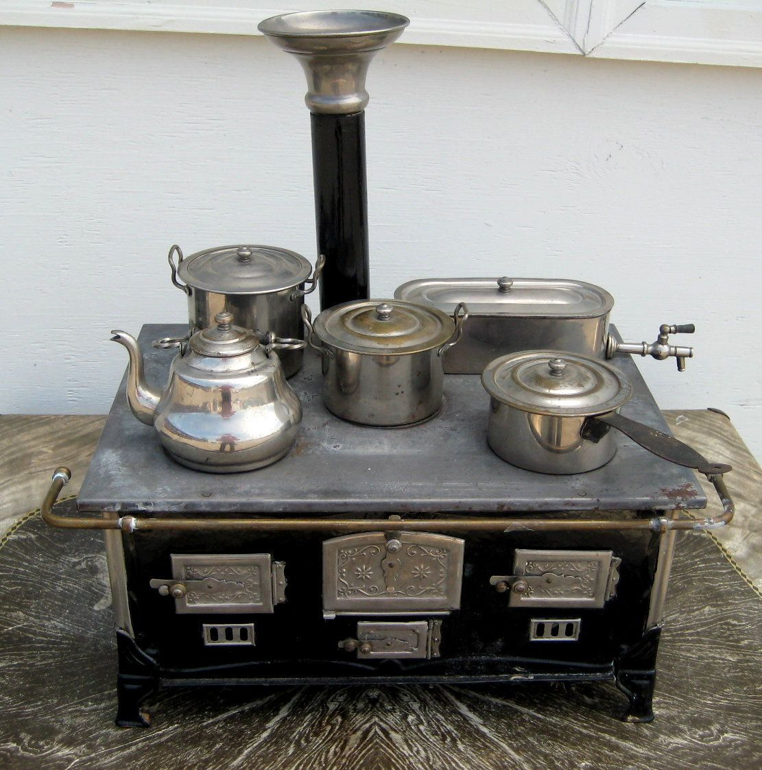 antique marklin childus stove walcohol burner u all utensils circa