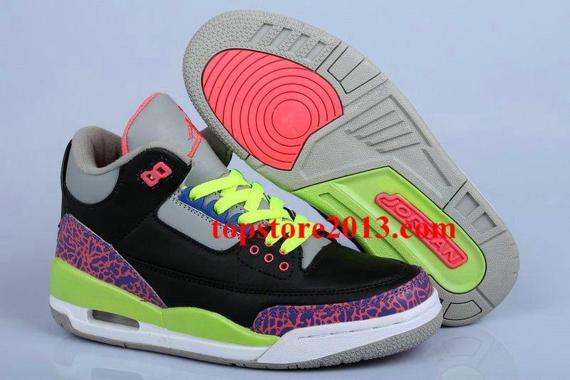 buy online cbe4c 6fc48 ... aliexpress air jordan 3 womens black purple volt 4ef57 401c2
