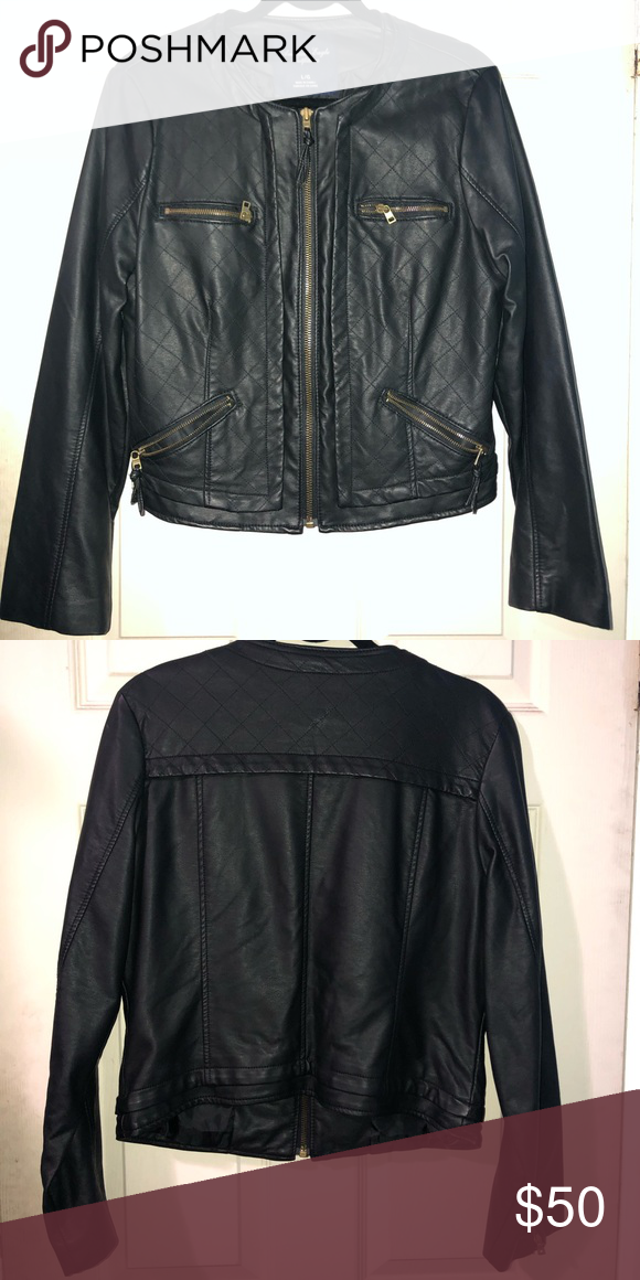 642d4852c4fc52 Quilted Vegan Leather Jacket
