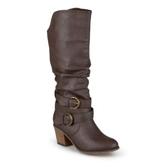 161c7648e1d2 Shop for Journee Collection Women s  Late  Buckle Slouch High Heel Boots.  Get free shipping at Overstock.com - Your Online Shoes Outlet Store!