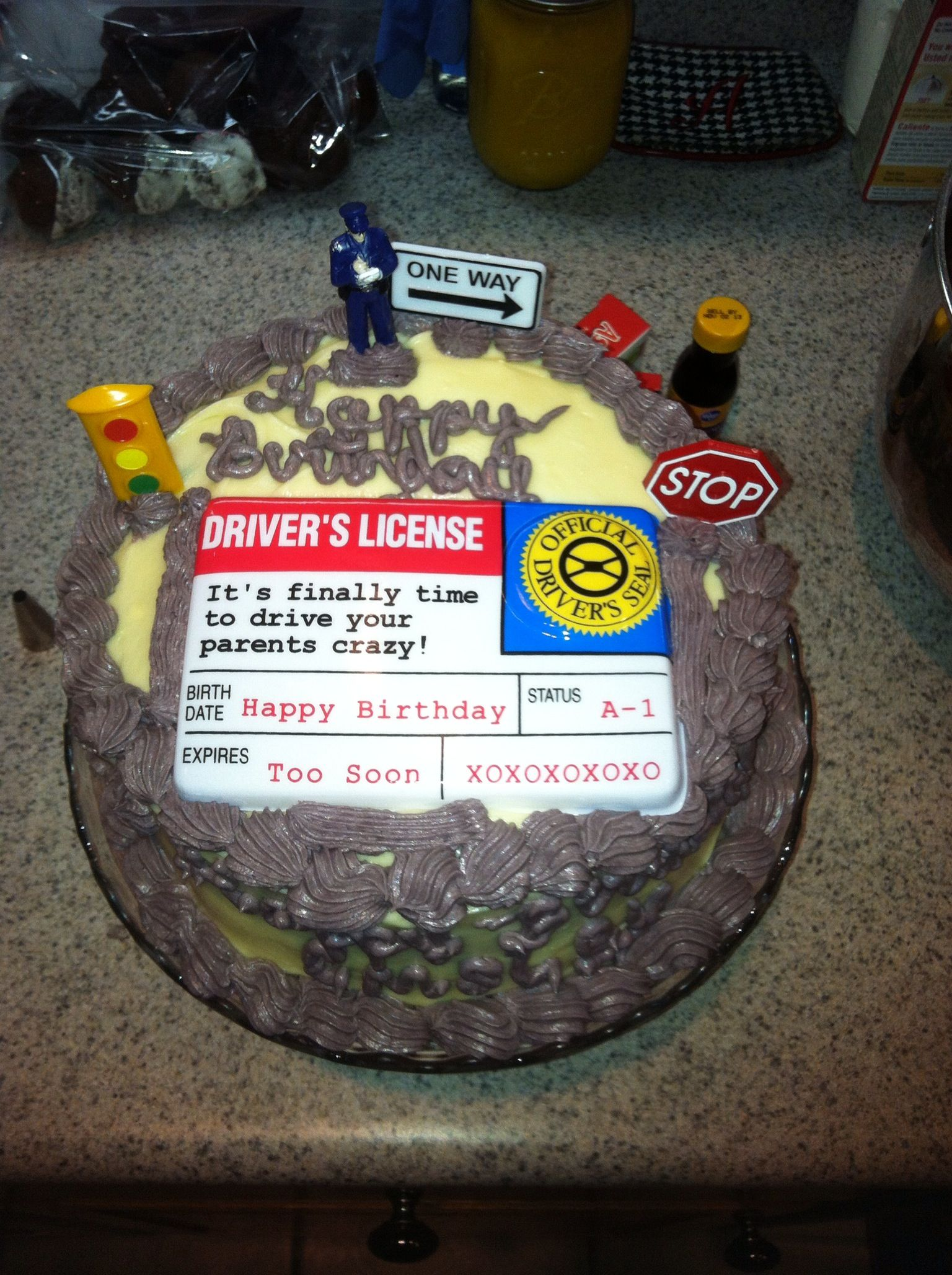 Driver S License Cake With Images 17 Birthday Cake Cake