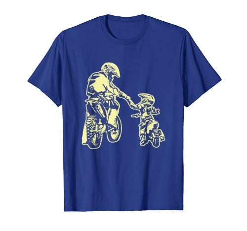 Father And Son Dirt Bike Racer Dirt Road Racing Motorbike T-Shirt