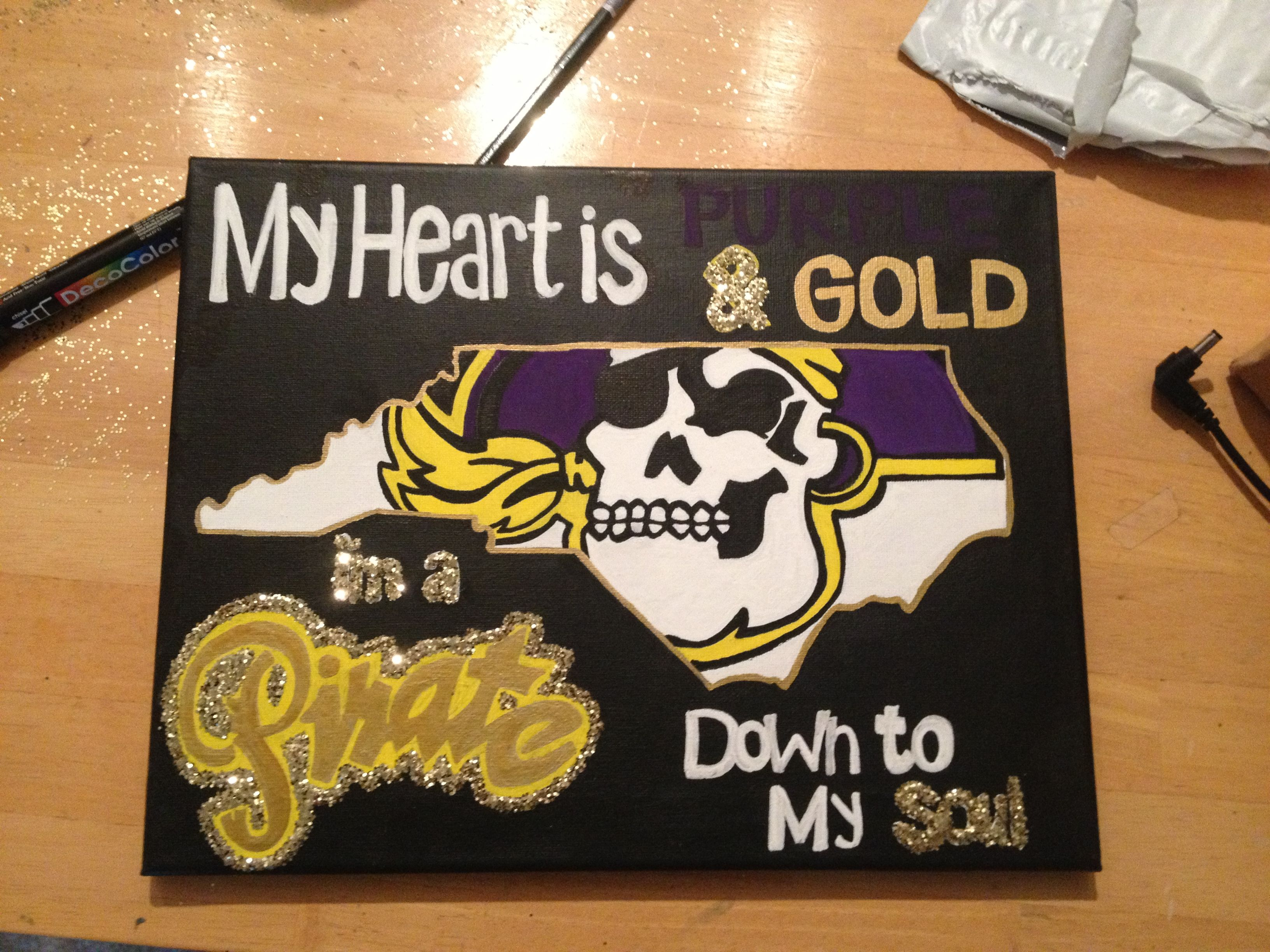 Color printing ecu - My Heart Is Purple And Gold I M A Pirate Down To My Soul