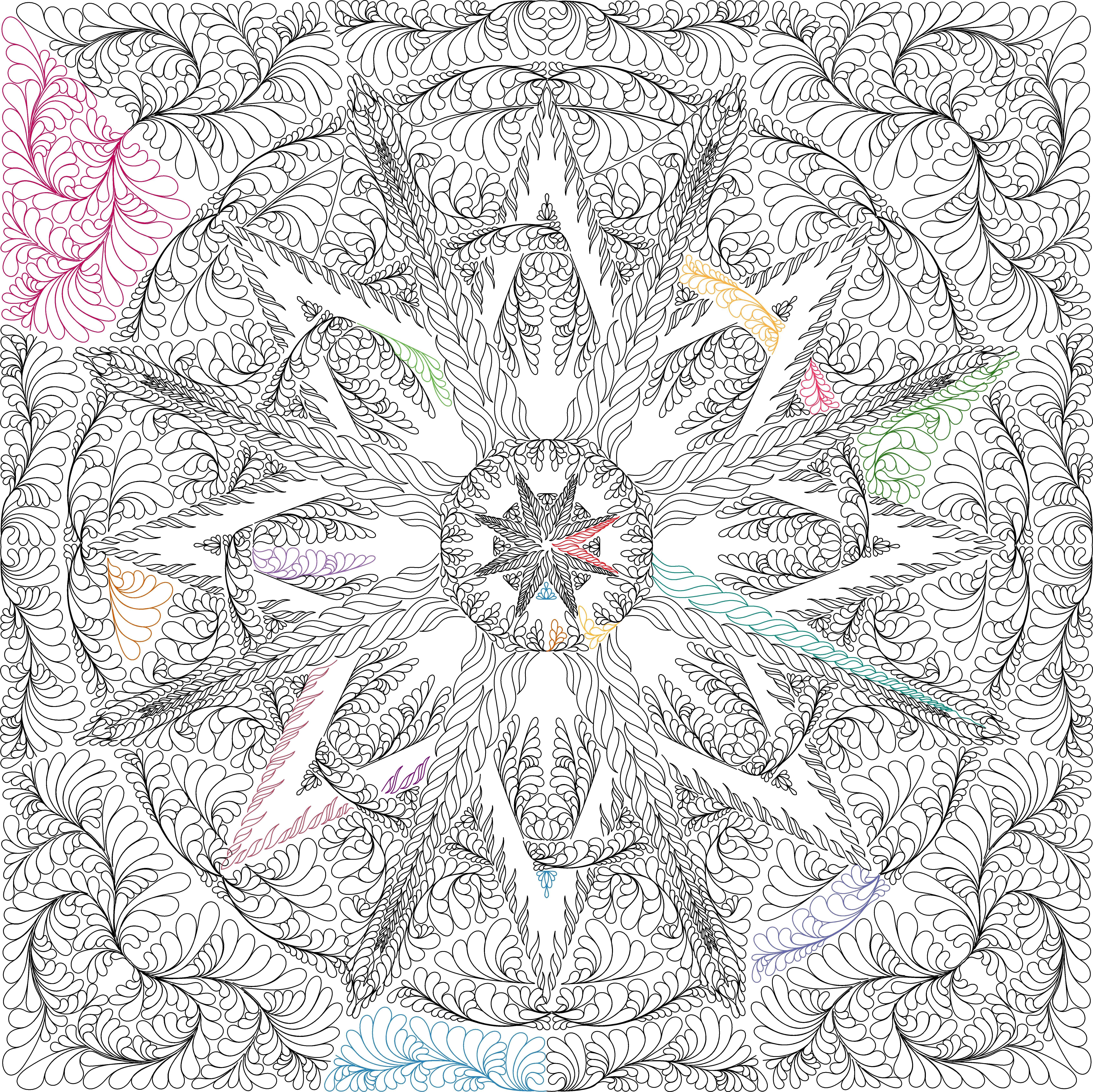 Mariner\'s Compass Quilting Design | Quiltworx.com | Pinterest ...