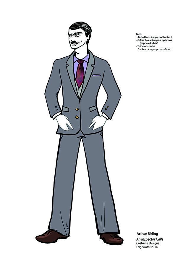 Arthur Birling costume design.