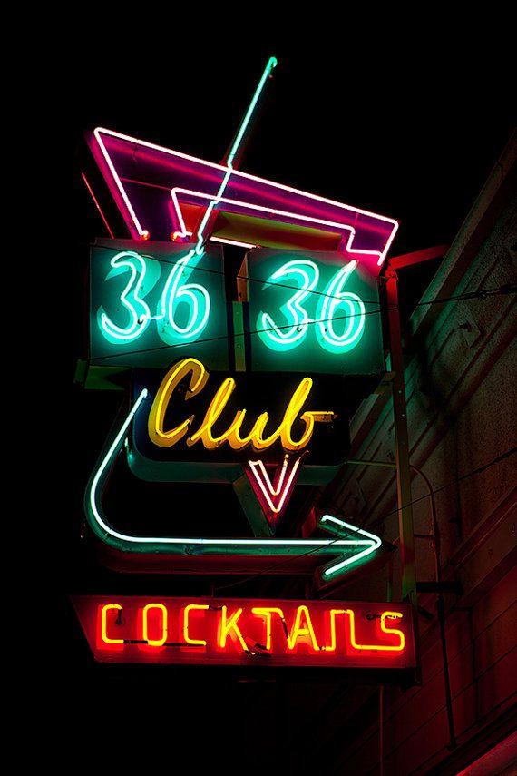3636 Club Neon Bar Sign Home Bar Art Bar by