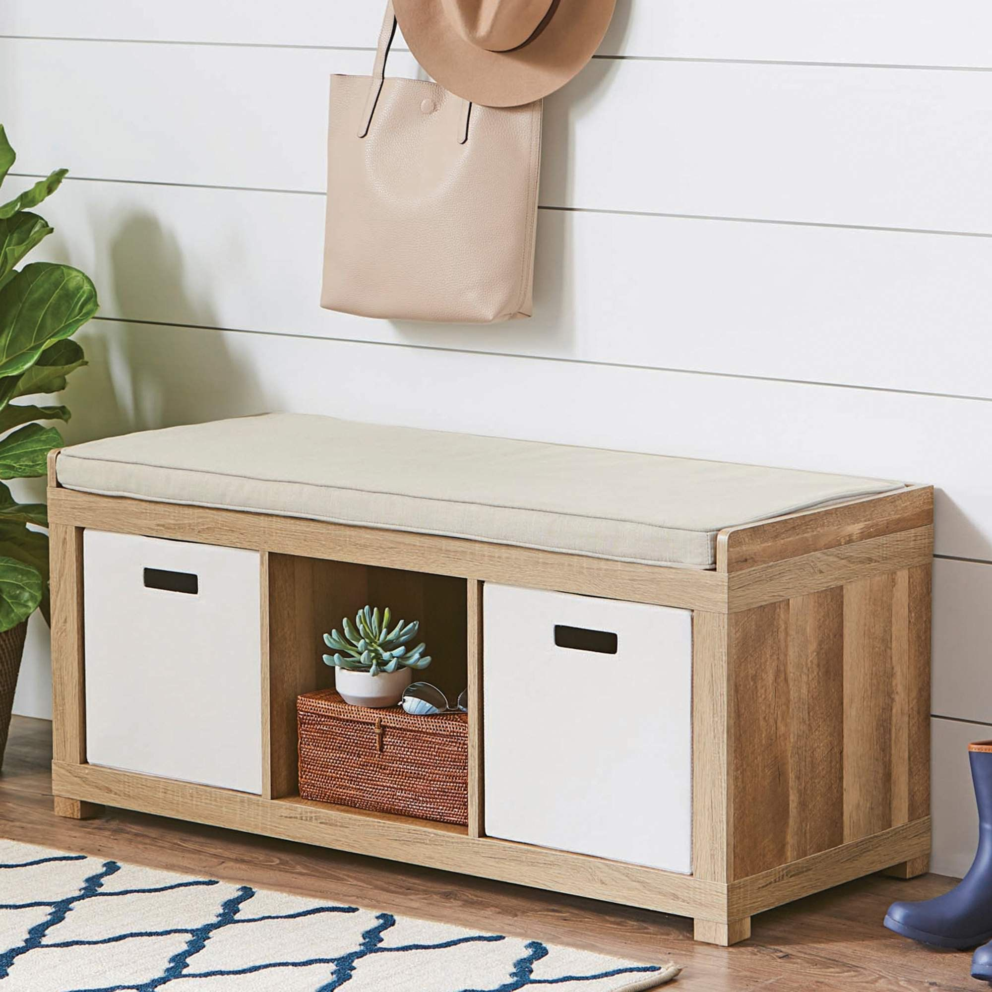 c642d7a405558973ff9b21d2b2ca0087 - Better Homes And Gardens 3 Cube Organizer Bench Weathered