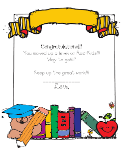 raz kids award certificate education pinterest raz kids award