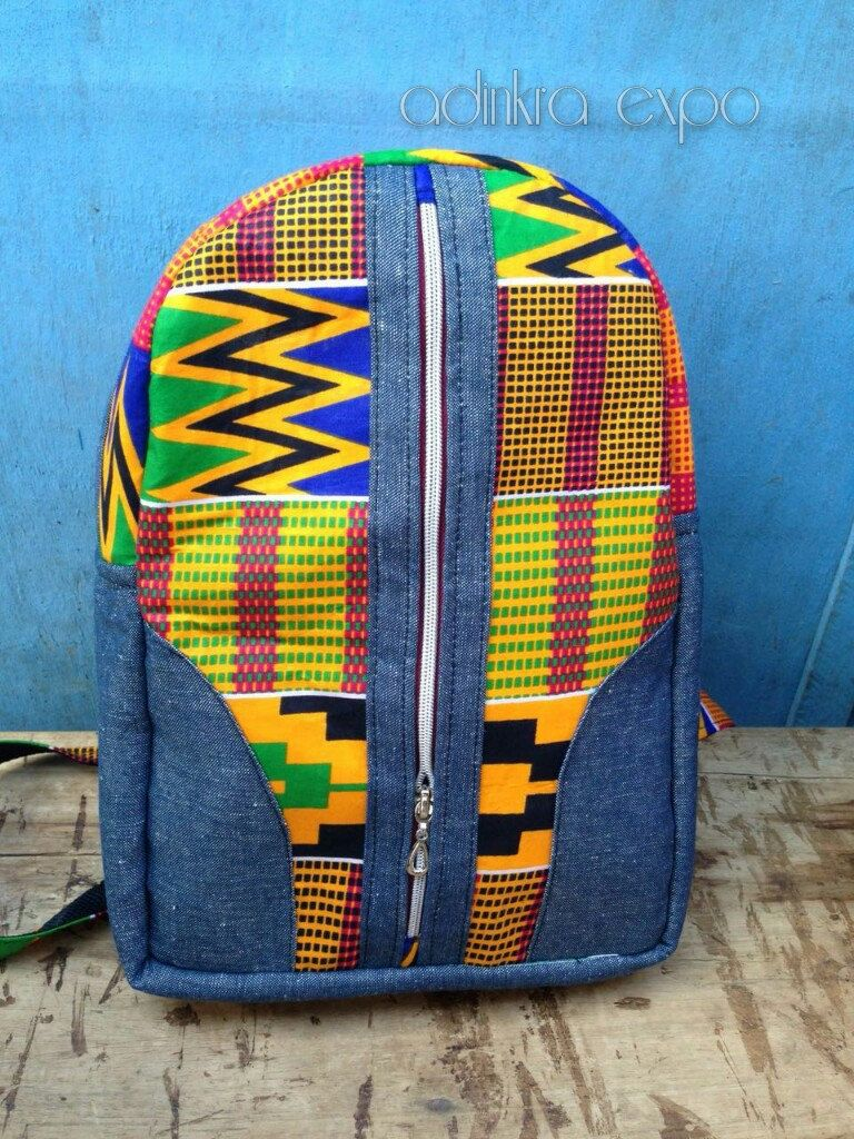 bacf6ce84449 Kente Mini Ankara Backpack  Bookbag  Rucksack  School Bag  Back pack by  AdinkraExpo on Etsy