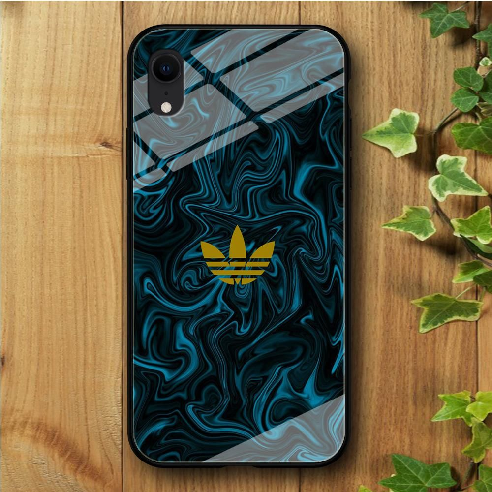 Adidas green marble iphone xr tempered glass case marble