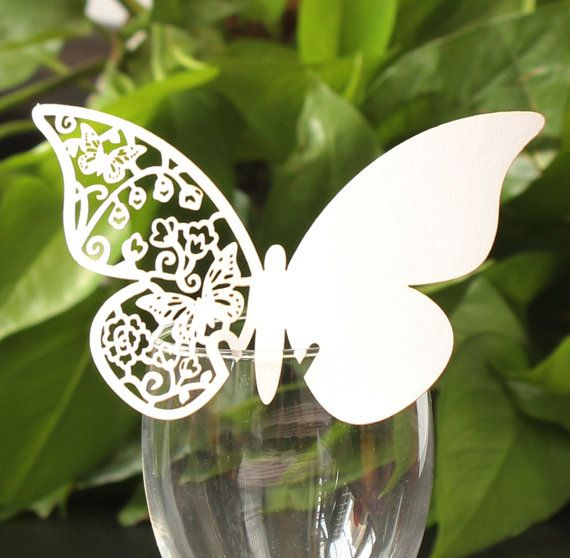 48 Elegant Butterfly Place Card Laser Cut Table Name by stncrafts, $9.99