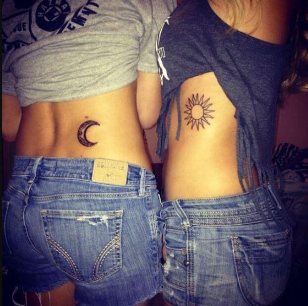 50 sonne und mond tattoos ideen f r paare 2018 pinterest tattoo tatoo and hennas. Black Bedroom Furniture Sets. Home Design Ideas