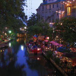 San Antonio.  The Riverwalk is the most soothing place on earth.