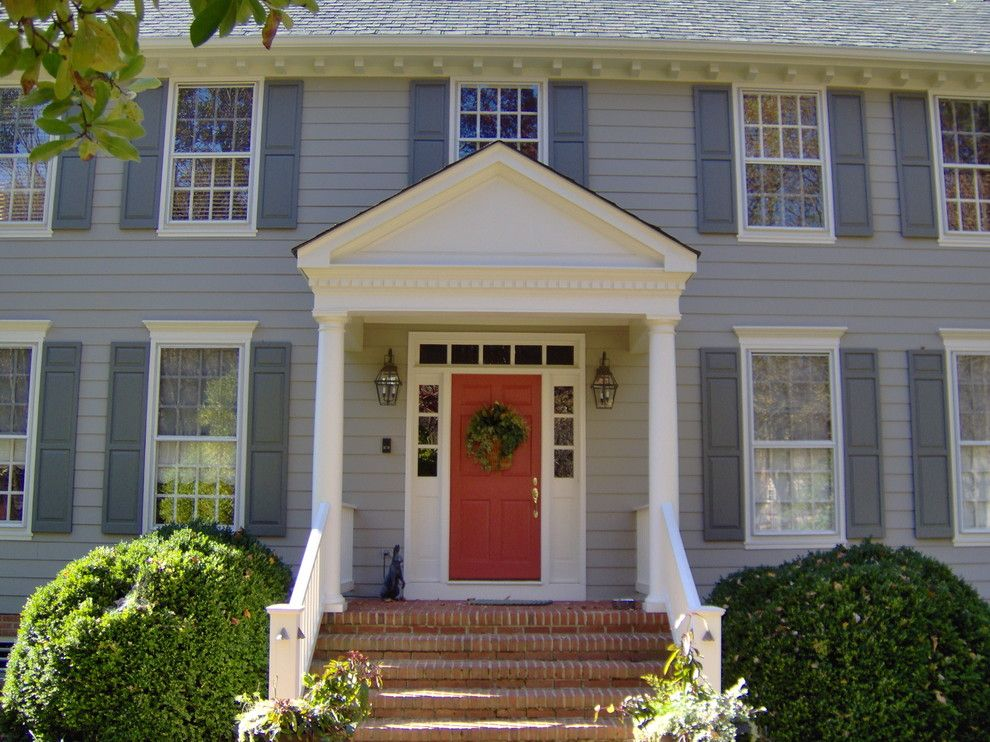 Magnificent Dentil Molding House Designs Traditional Exterior Dc Metro Home Insurance Colonial Tradition Colonial Exterior Exterior House Colors Portico Design