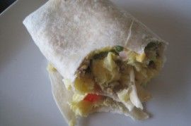 Make ahead breakfast burritos.  Great for a quick weekday breakfast on the go!