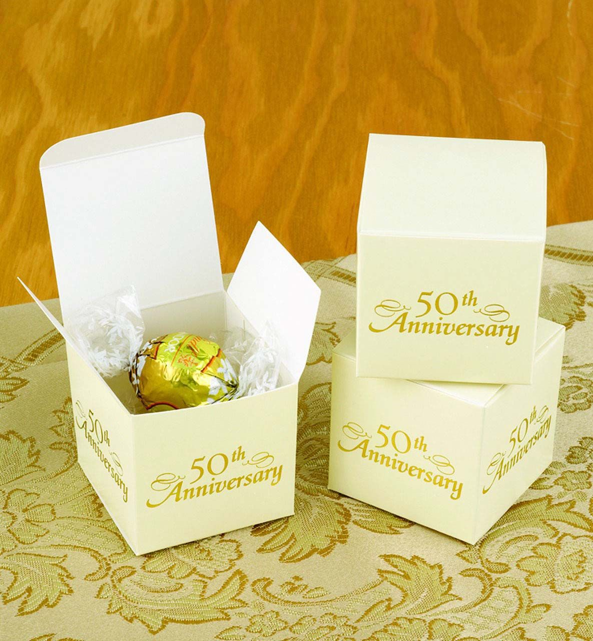 50th Anniversary Favor Boxes 50th anniversary favors