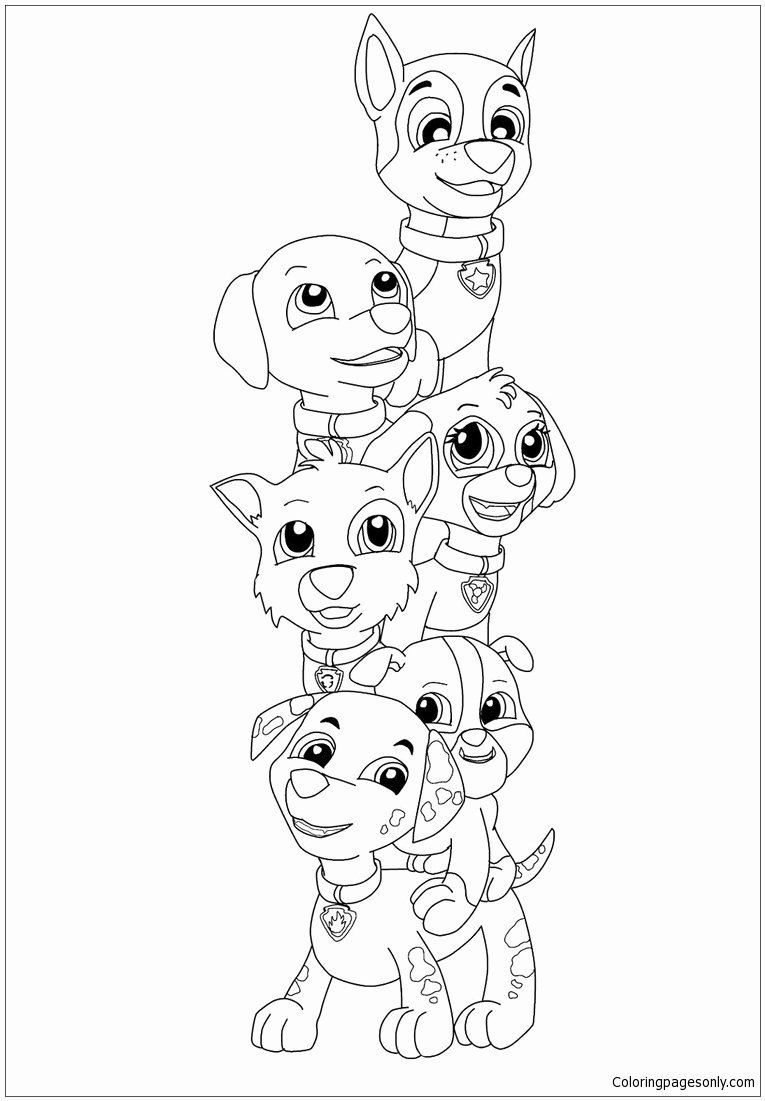 24 Paw Patrol Everest Coloring Page In 2020 Paw Patrol Coloring