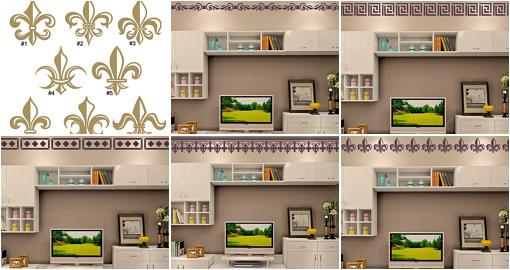 Fleur De Lis Wall Decals Nursery Border Decals Bedroom Borders - Vinyl wall decals borders