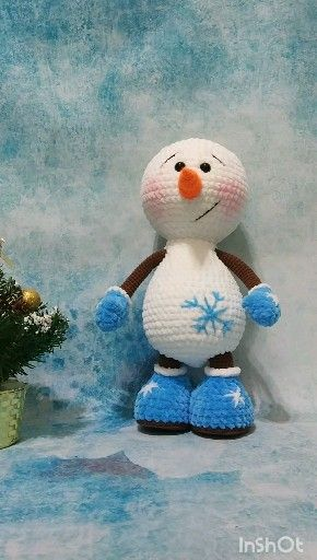 Photo of Crochet PATTERN Snowman. Сhristmas snowman pattern.