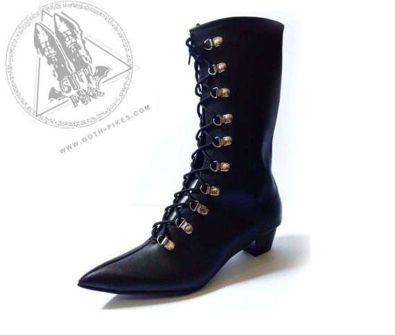 Goth Pikes lange X9 Schnalle Winklepickers Stiefel Stiefel