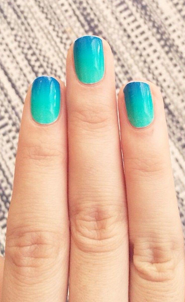 Blue Lagoon, gradient nail wrap, nail wrap, ombre | nails ...