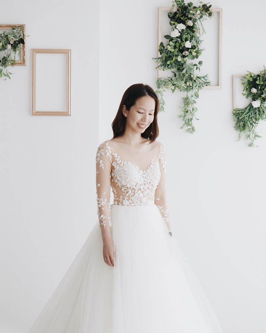 The Best Bridal Boutiques In Kuala Lumpur Part 1 Illusion Wedding Dress Wedding Dress Tulle Lace Wedding Gowns Lace