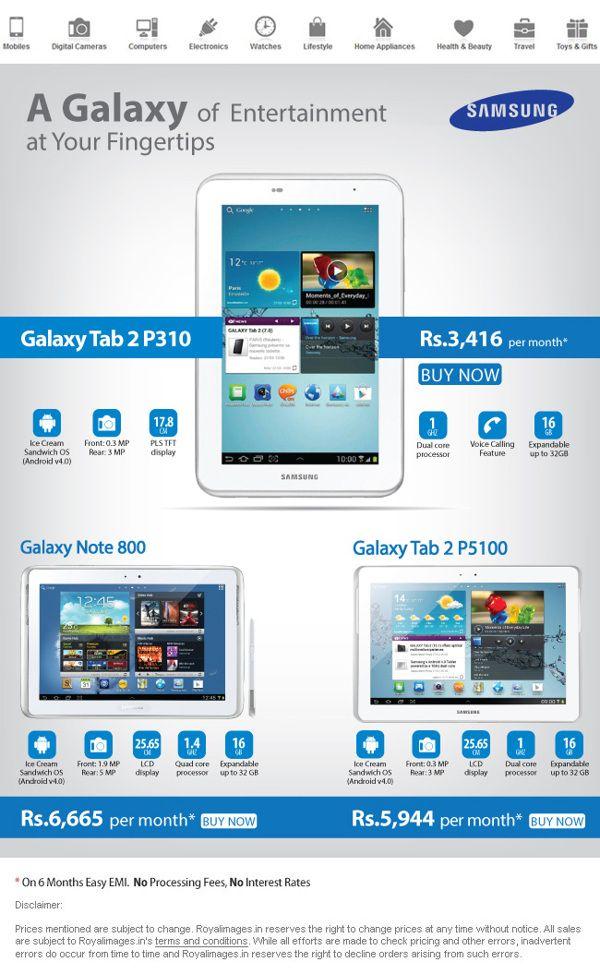 Samsung Galaxy Mailer by Alankar Sudarsan, via Behance