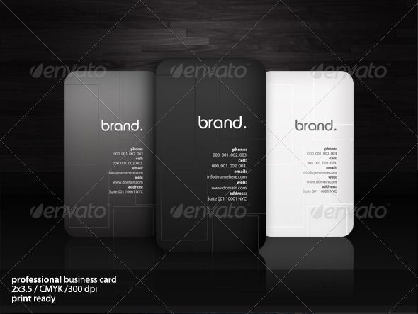 Sophisticated Business Cards #GraphicRiver Sleek and minimalistic ...
