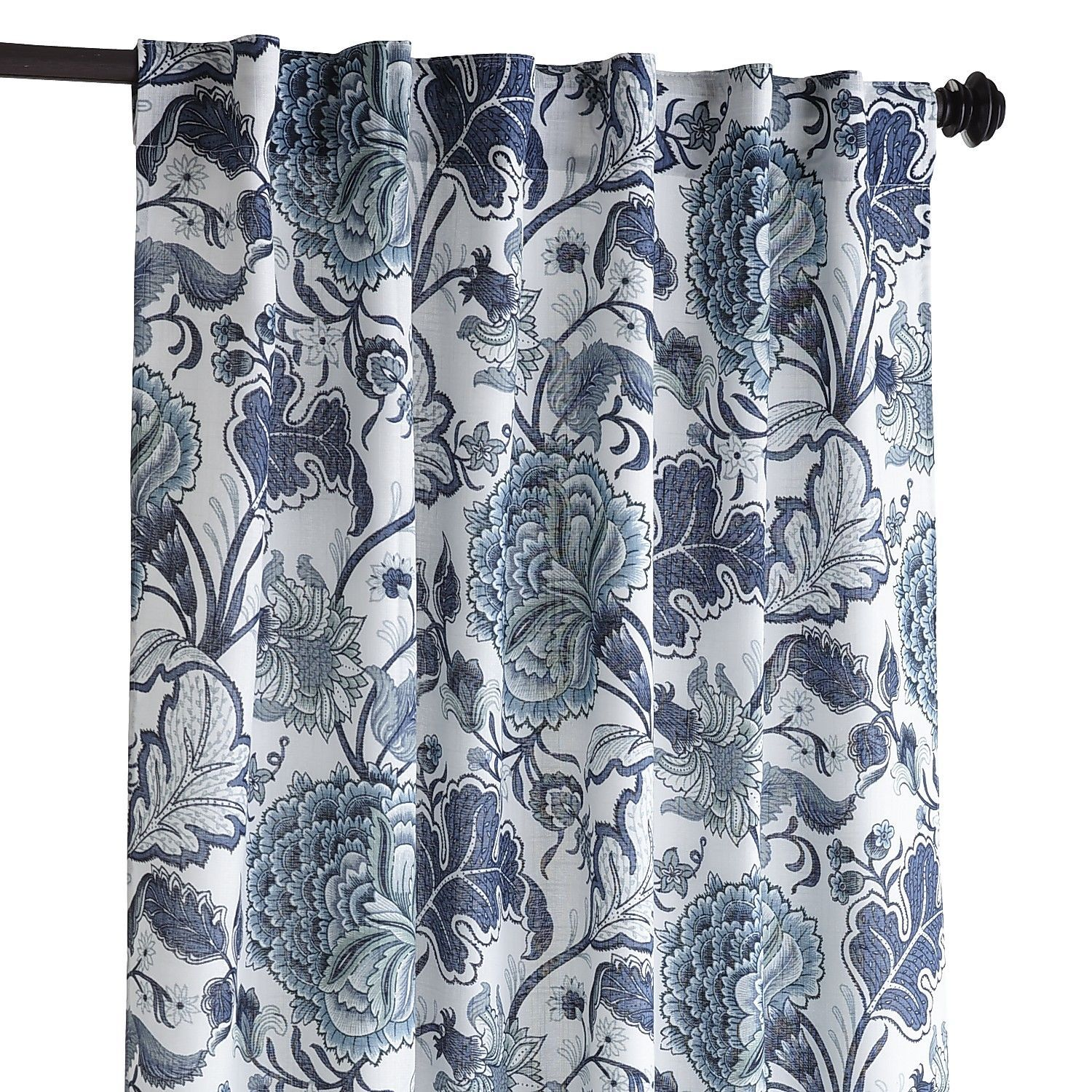 Meadow Floral Curtain Indigo 84 Great Curtains For The Dining