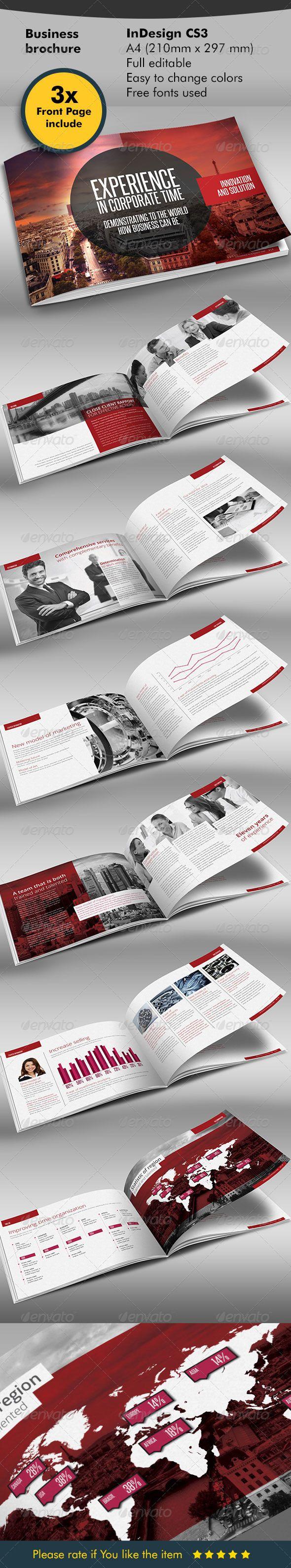 Red Black Design Brochure   Folletos, Revistas y Diseño editorial