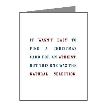 Natural selection christmas cards for atheists atheist and natural selection christmas cards for atheists m4hsunfo