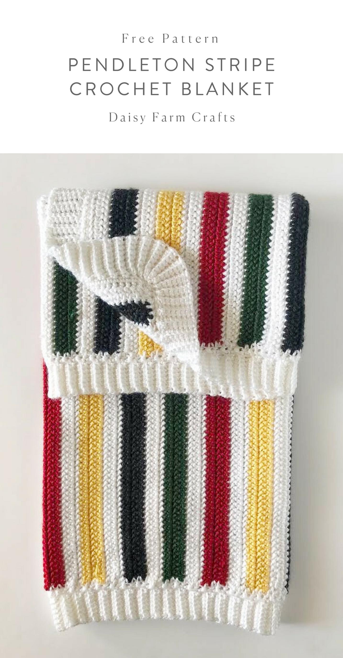 Free Pattern - Pendleton Stripe Crochet Blanket | Hookin\' | Pinterest