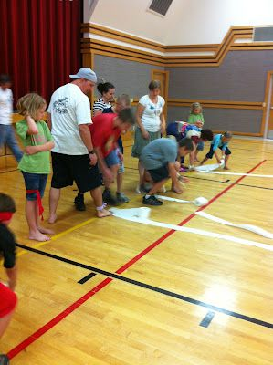 Family reunion game ideas....paper product olympics