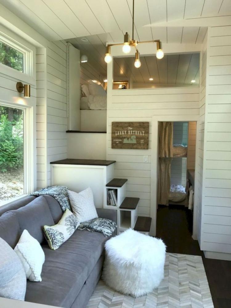 50 Amazing Loft Stair For Tiny House Decor Ideas Tiny House Loft Tiny House Interior Tiny House Decor
