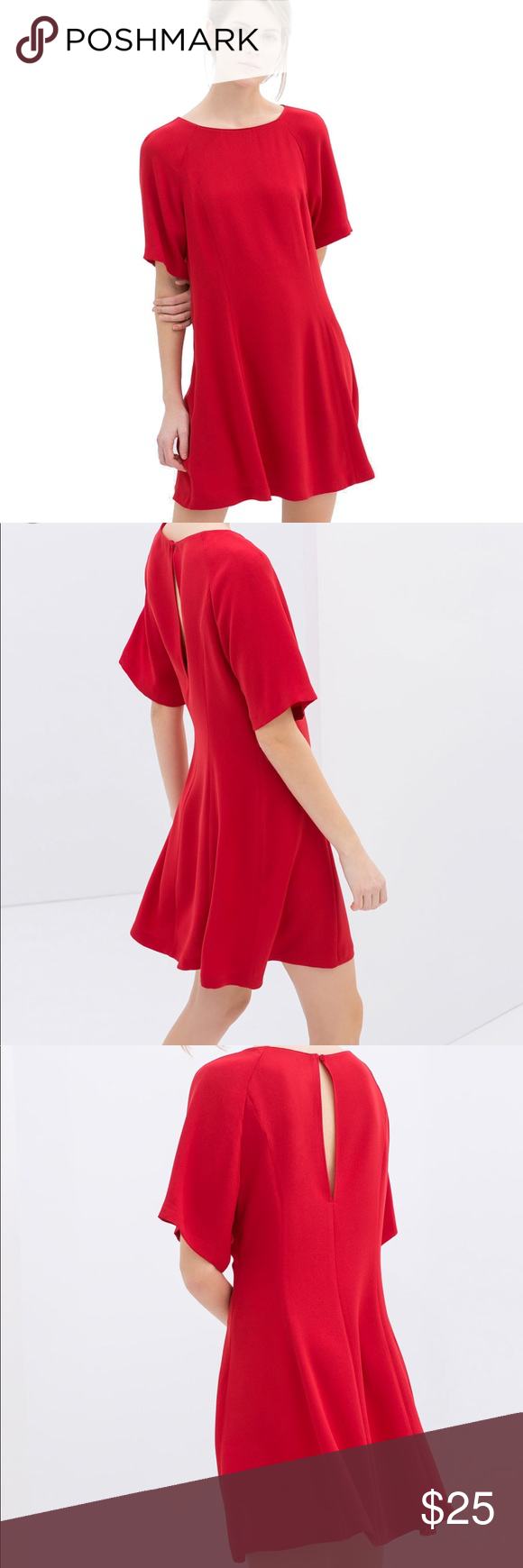 Zara simple red dress my posh picks pinterest simple dresses