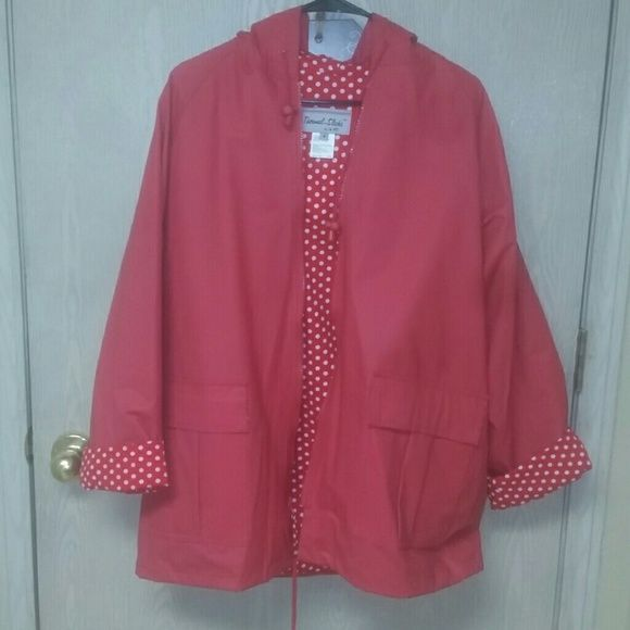 5fddbd754f641 Super cute Raincoat Be ready for April showers with this red raincoat. Cute  red lining