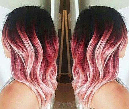 15 Rosa Ombre Haar Ideen » Frisuren 2020 Neue Frisuren und Haarfarben #ombrehair