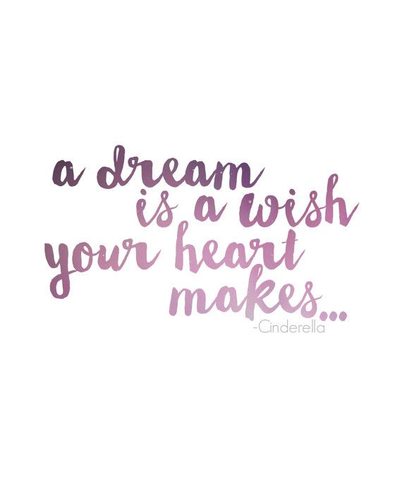 A Dream Is A Wish Your Heart Makes By Deonnawade On Etsy Words