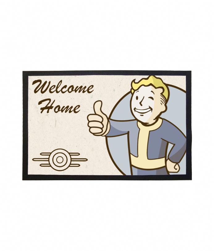 Doormat Vault Boy Welcome Home Mat From Fallout Vault Boy Vault Boy Fallout Welcome Home