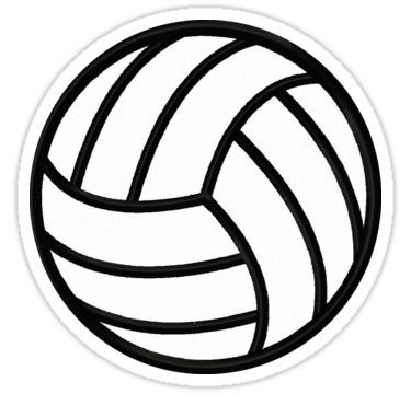 Volleyball Sticker By Allisonke In 2020 Volleyball Clipart Volleyball Shirts Volleyball Drawing
