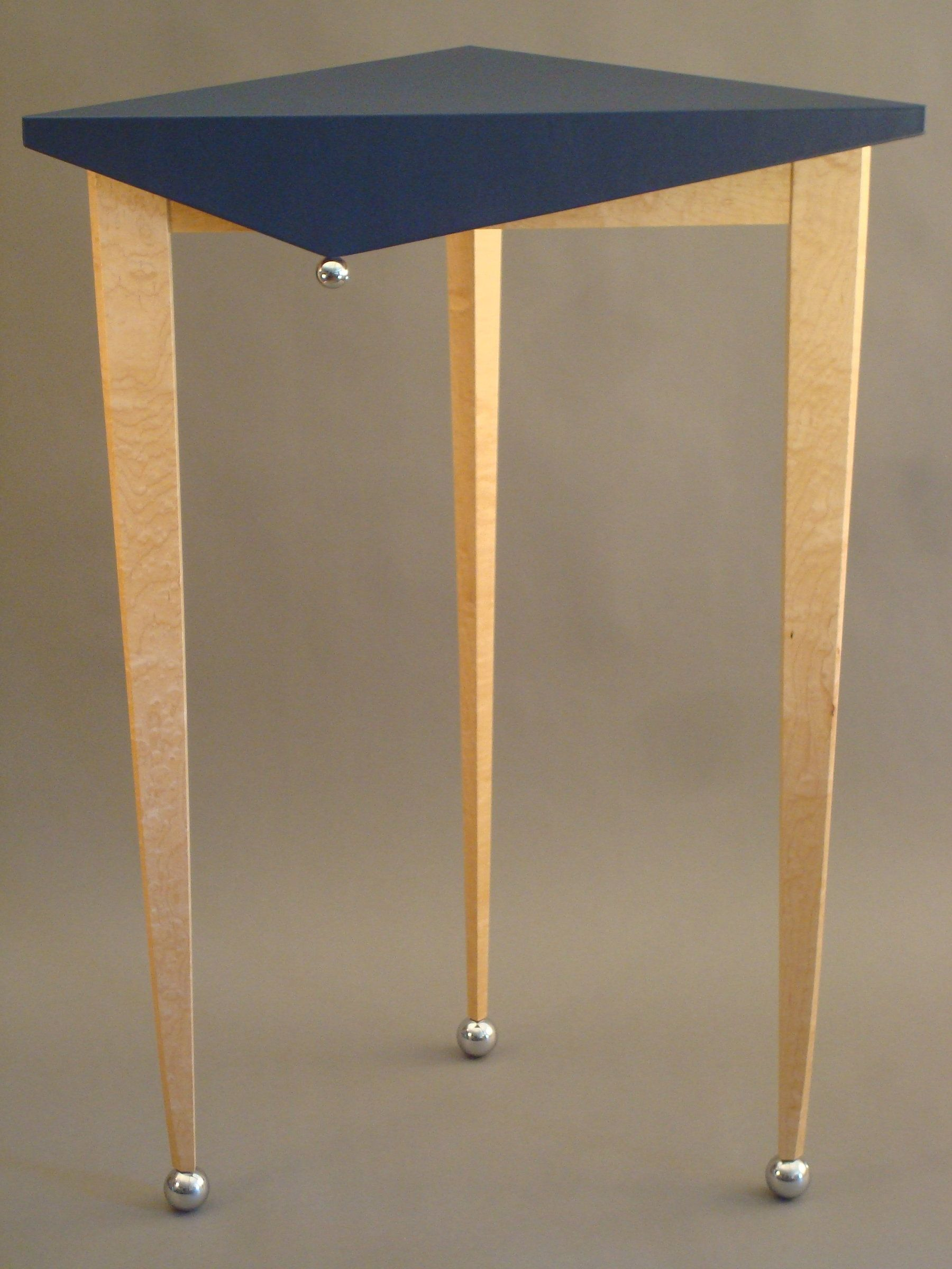 Tall Jester Table By Tim Wells Triangular Corner Table Made With
