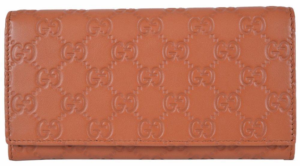 1224e4368d4 New Gucci Women s 346058 TAN Leather GG Guccissima Continental Bifold Wallet   Gucci  Bifold