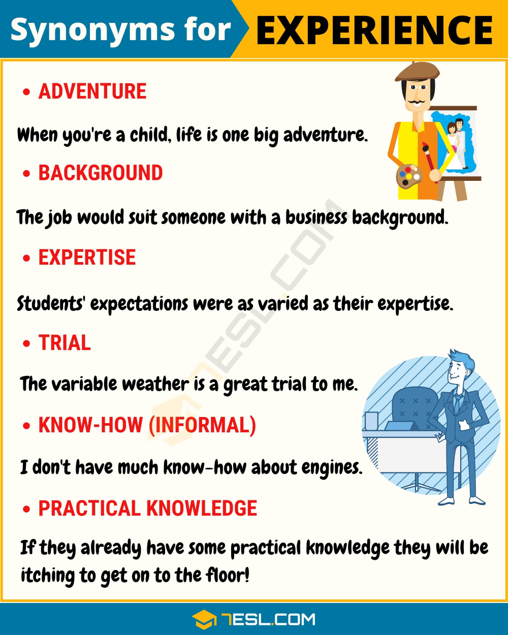 Another Word For Experience 90 Useful Synonyms For Experience 7esl Learn English Vocabulary English Lessons Learn English