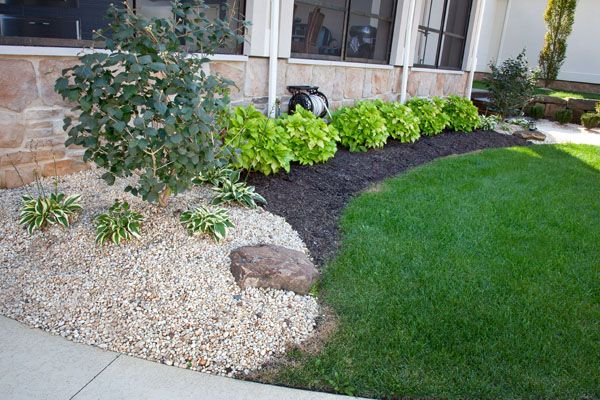 I Like The Combination Of Rocks And Mulch Go To Www Likegossip Com To Get More Gossip News Front Yard Landscaping Landscaping With Rocks Front Garden Design