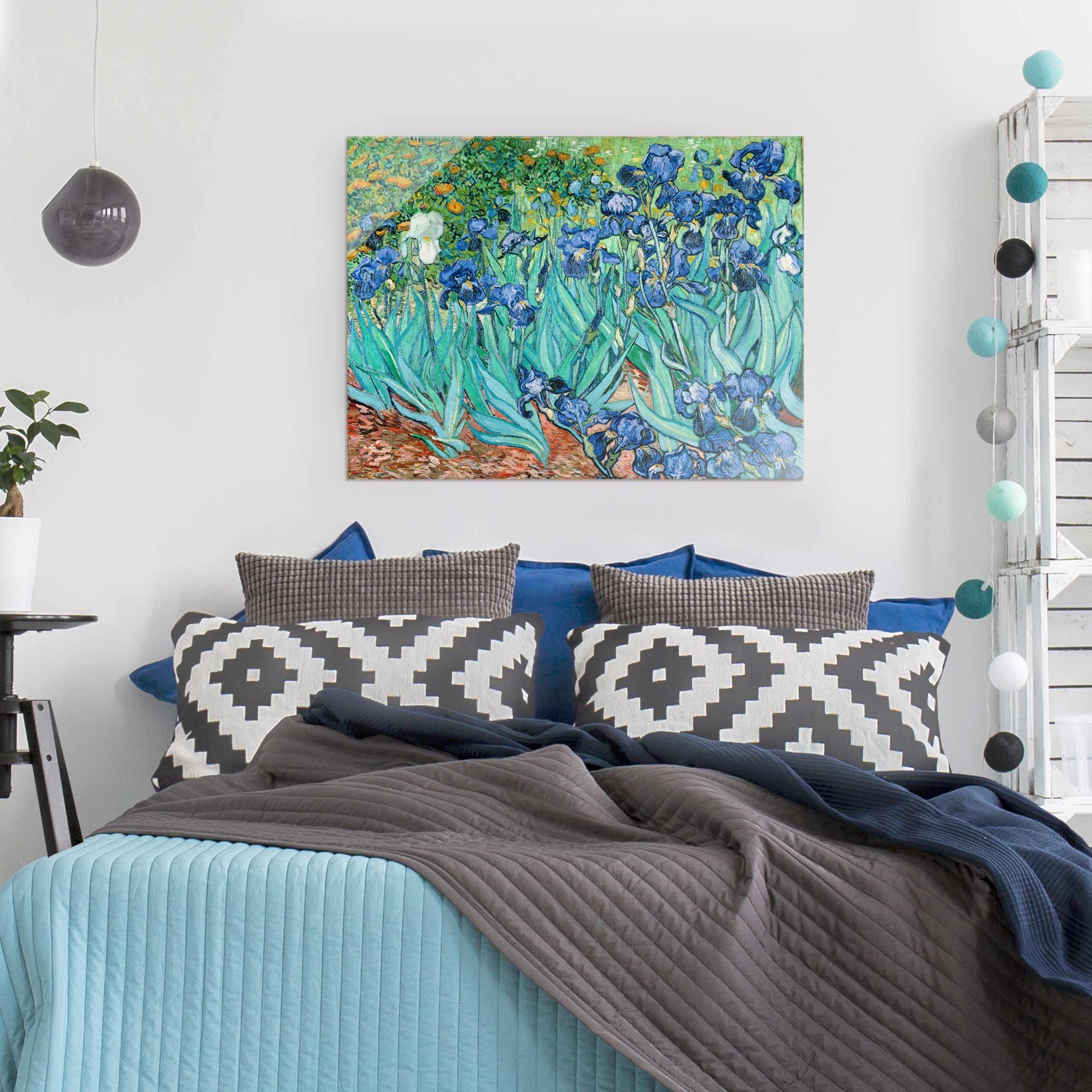 Van Gogh Iris Quadro Stampa su Tela Canvas Quadri Moderni XXL Arte Casa
