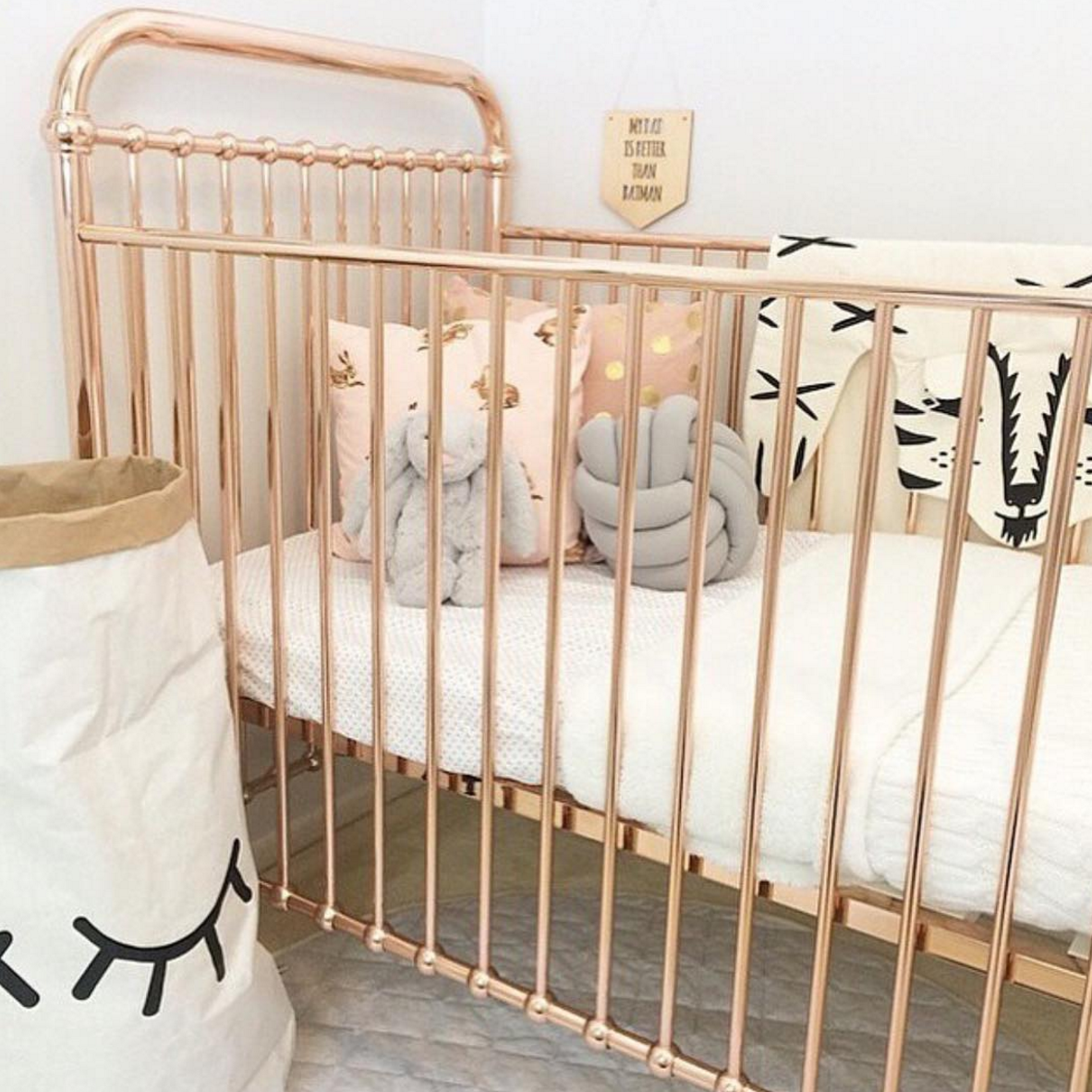 Ellie Rose Gold Crib Clic Cribs Baby Furniture