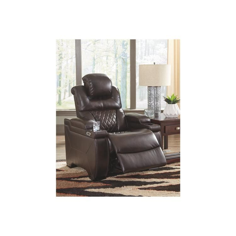 Benzara Leatherette Upholstered Metal Power Recliner With Adjustable Headrest Brown 1721 31 In 2021 Power Recliners Living Room Leather Ashley Furniture Living Room