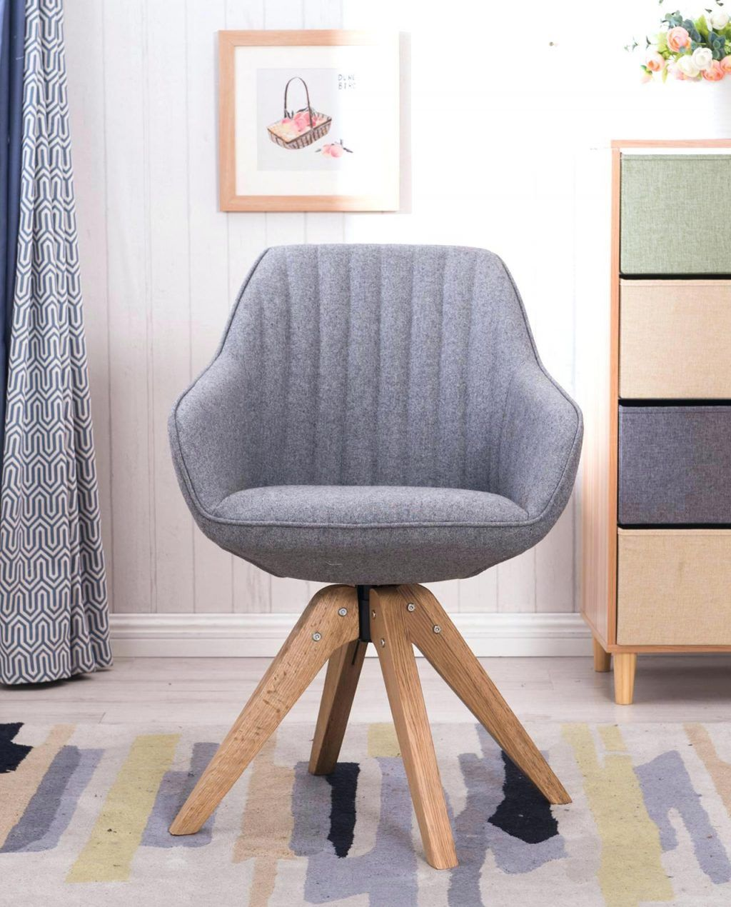 Design D Interieur Fauteuil Bureau Scandinave Chaise Design Pivotante Dune Kayellesgris Flanelle Pas Cher Fauteuil Bureau Chaise Design Fauteuil Bureau Design