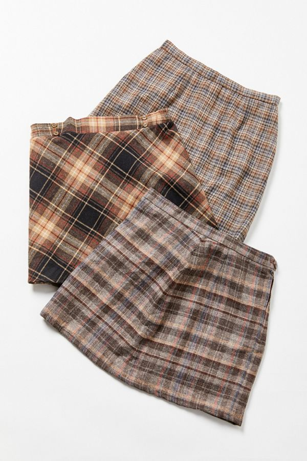 206f974d9d Vintage Plaid A-Line Mini Skirt in 2019 | ☆ skirt ☆ | Mini skirts ...